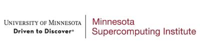 Logo for University of Minnesota Supercomputing Institute